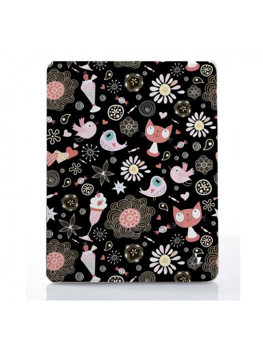 Чехол для iPad Коты паттерн десерт