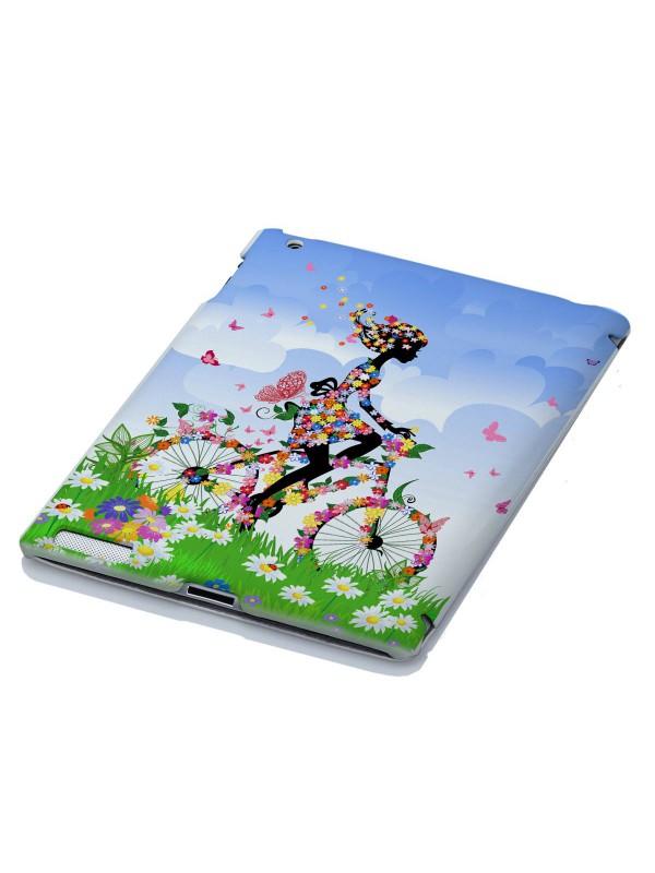 Арт, искусство, приколы - Цветочная девушка на велосипеде