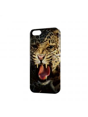 леопард оскал злости