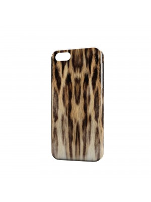 леопард шуба светлая
