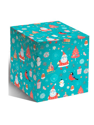 Коробка дед мороз