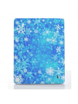 Новогодний голубые снежинки